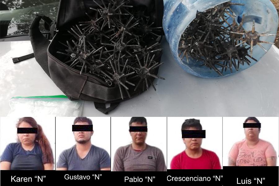 Con ponchallantas, así operaba célula delictiva detenida en La Antigua