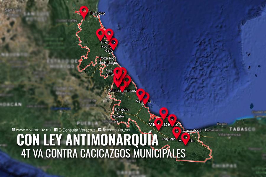 """Cacicazgos y dinastías de Veracruz, en riesgo con iniciativa """"Anti monarquía"""""""