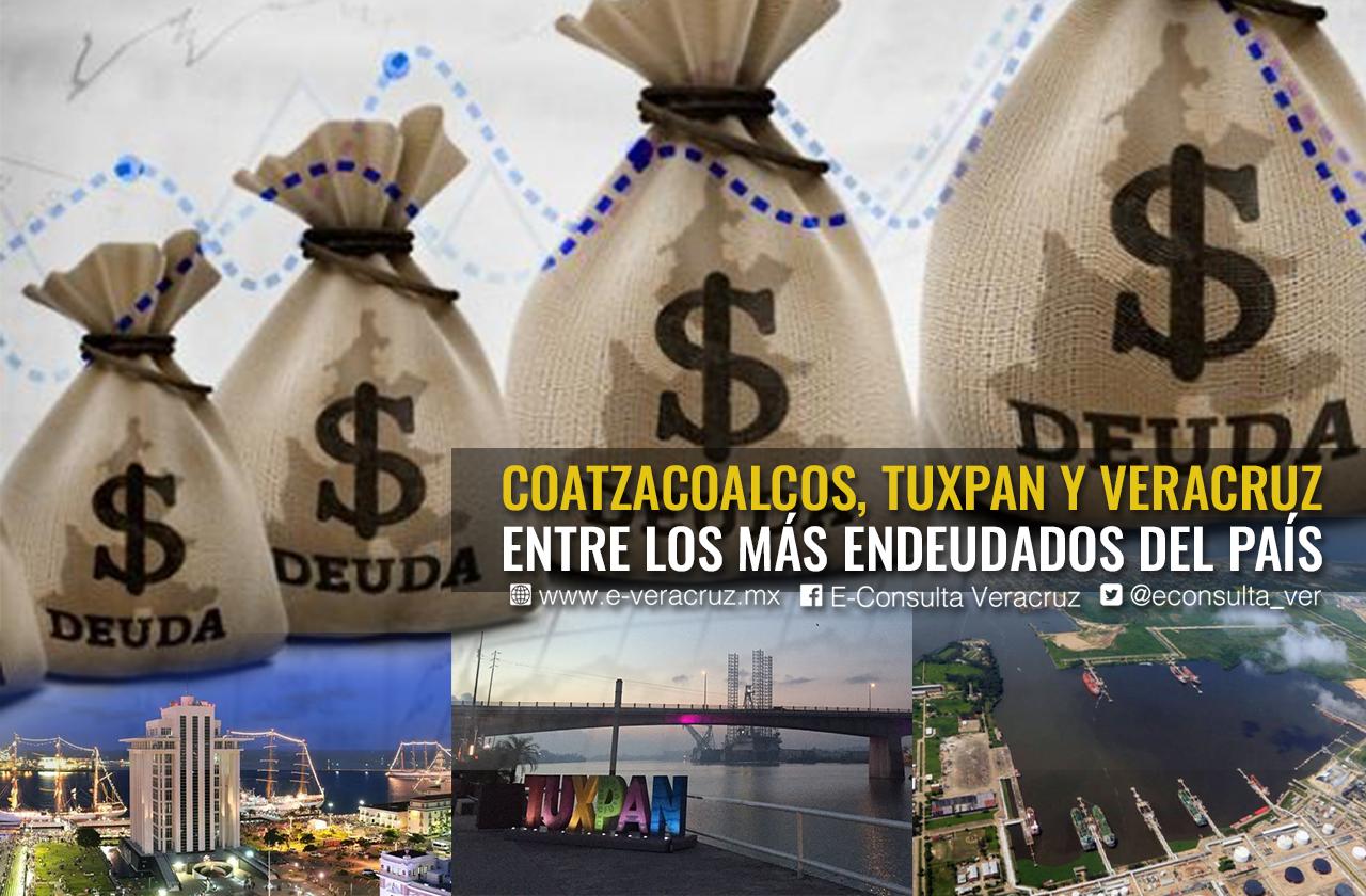 3 municipios de Veracruz en el top nacional de deudores