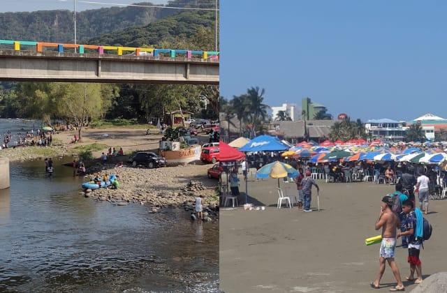 Turistas abarrotan costas y ríos de Veracruz en 'puente'