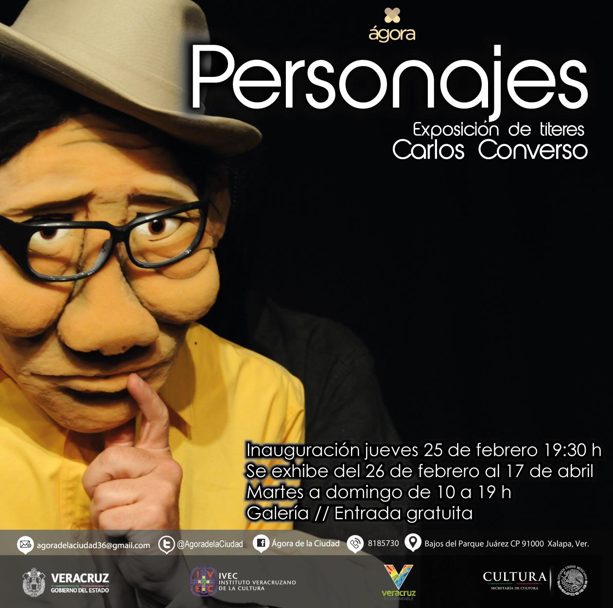 Inaugura IVEC exposición Personajes de Carlos Converso, en el Ágora