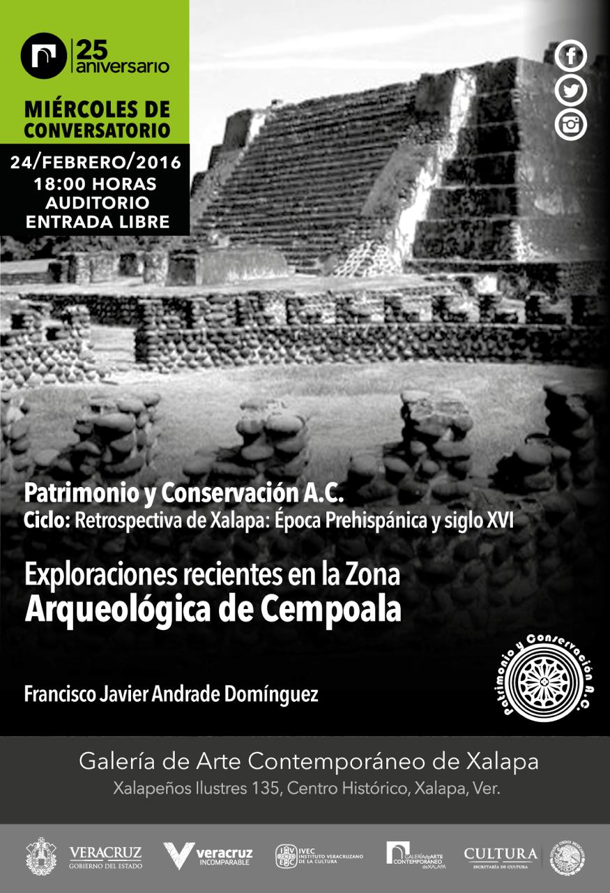 Comentarán sobre exploraciones recientes en la Zona Arqueológica de Zempoala, en la GACX
