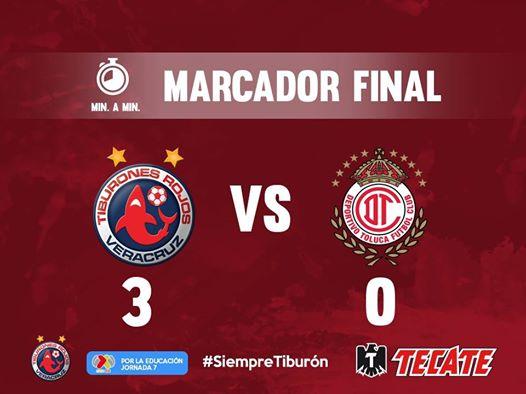 Veracruz vence 3-0 al Toluca y se acerca a la salvación