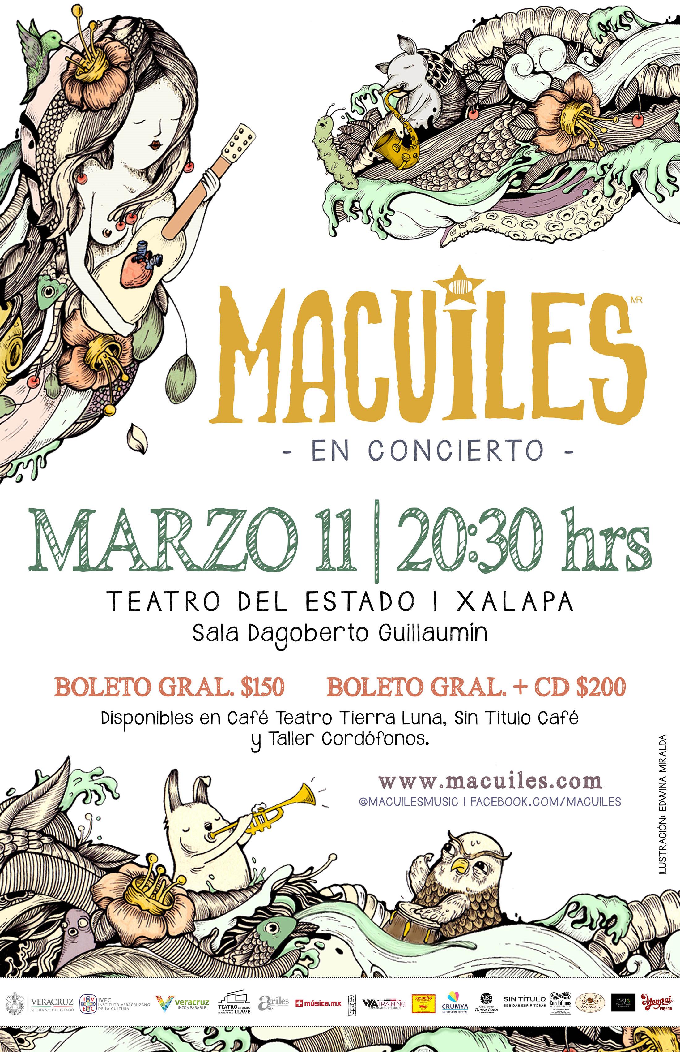 Invitan a concierto de Macuiles, el 11 de marzo en Teatro del Estado