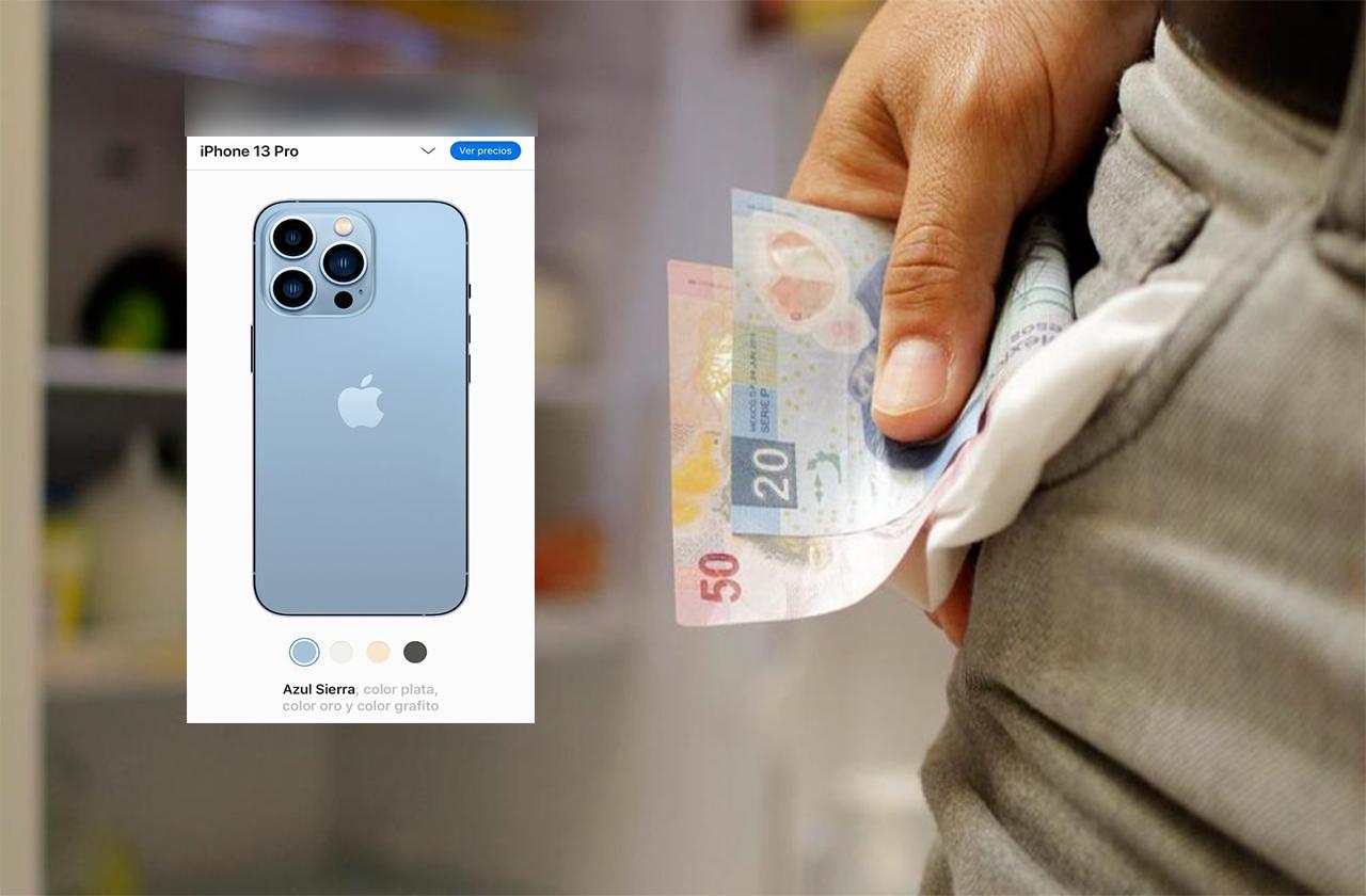 ¿Cuántos días debe trabajar un jarocho para comprar el Iphone 13?