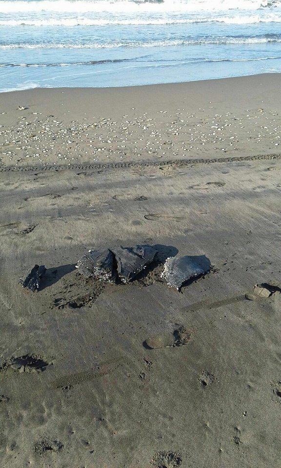 Pescadores de Alvarado reportan chapopote en playas por actividad de Pemex