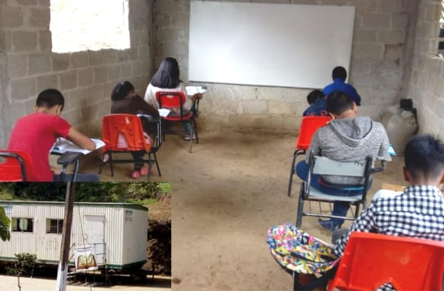 De un vagón a aulas dignas; profesor en Xalapa nunca bajó los brazos