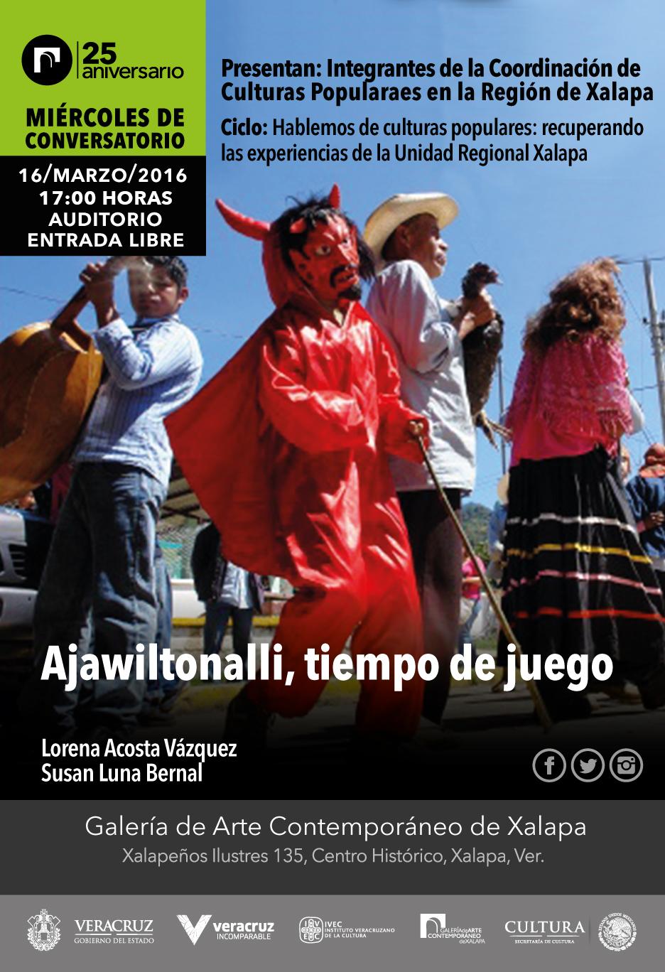 Hablarán de carnavales indígenas en Miércoles de Conversatorio de la GACX