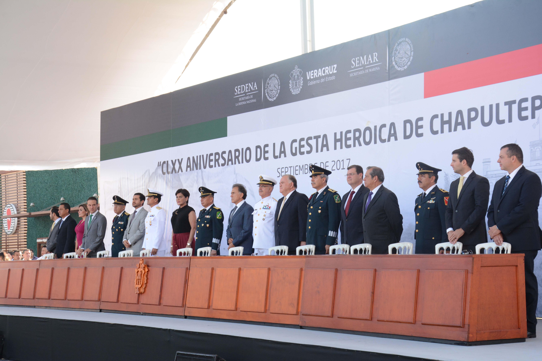 Ramón Poo asiste a conmemoración del 170 aniversario de la Gesta Heroica de los Niños Héroes