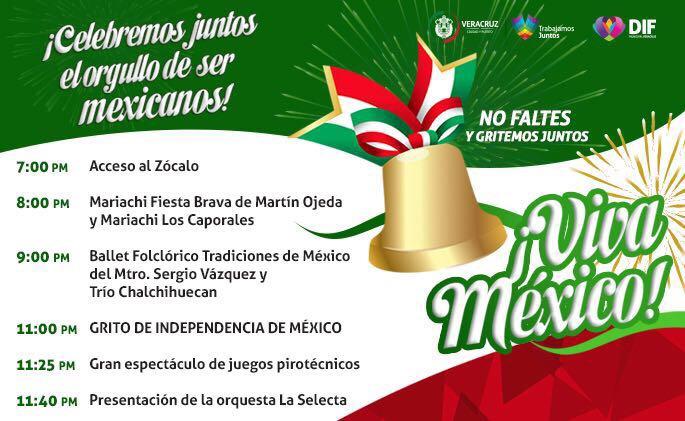 Programa Oficial de la celebración del Grito de Independencia 2017