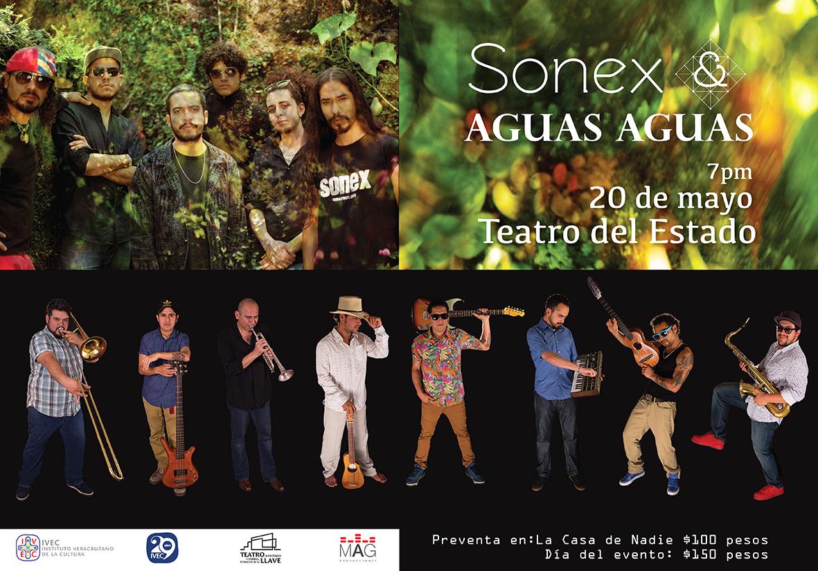 Celebrarán Sonex y Los Aguas Aguas una década de amistad en concierto, en Teatro del Estado