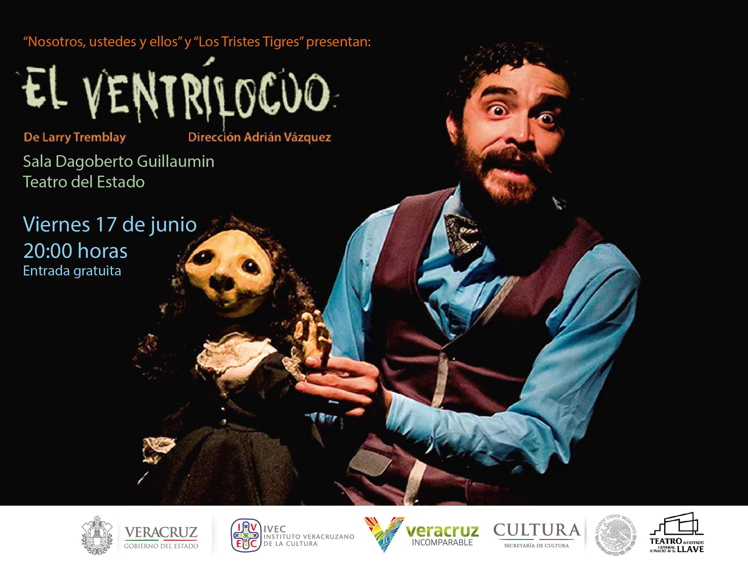Presentarán obra de teatro El ventrílocuo, en Teatro del Estado