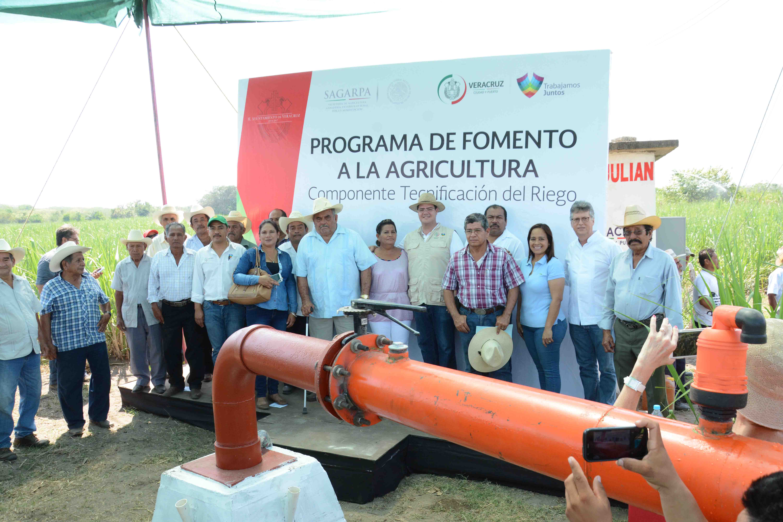 Sistema de riego automatizado eleva beneficios para familias del campo veracruzano