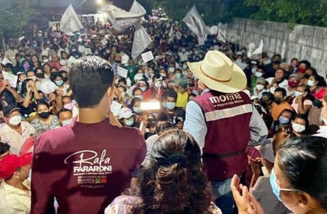 Cierre de campaña de Fararoni: con buena respuesta en Hueyapan y Catemaco