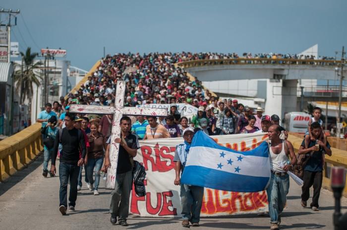 Migrantes menores de edad quienes solicitan refugio en Veracruz