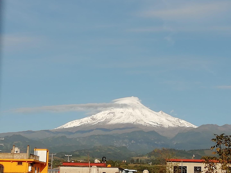 Se registra nevada en el Pico de Orizaba