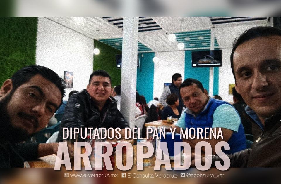Relegado en Morena, diputado se exhibe con panistas previo a comicios