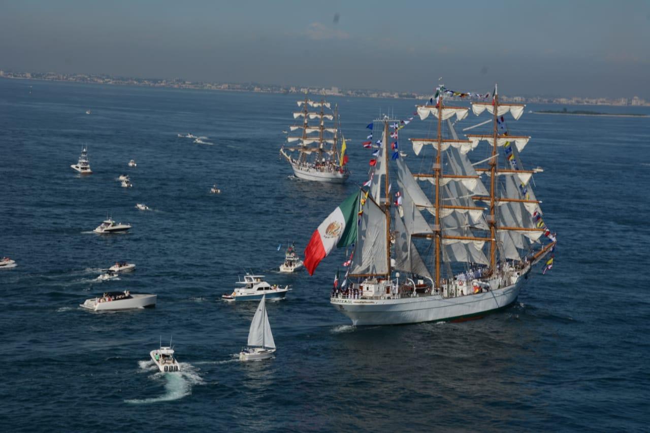 ¡El Buque Escuela Cuauhtémoc regresará a Veracruz con el fuego olímpico!