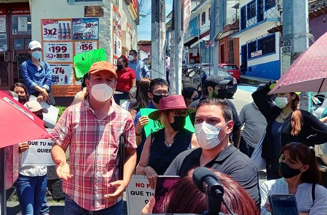 '¡Que ya abran el centro!': comerciantes de Xalapa contra cierres