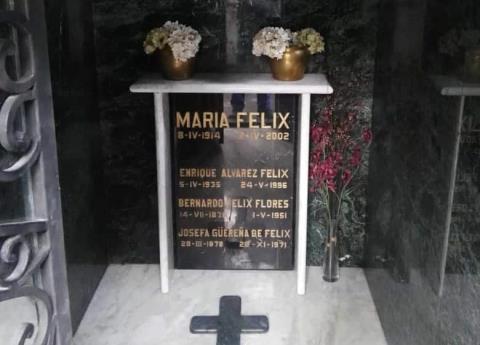 ¿Qué se robaron del mausoleo de María Félix?