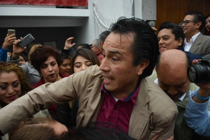 Yunes está detrás de protestas contra alcaldes de Morena: Cuitláhuac