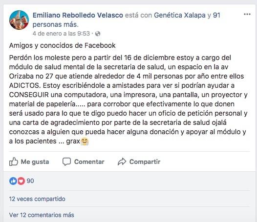 Módulo de Salud mental en Xalapa pide donaciones