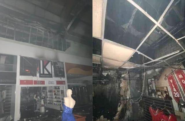 Por cortocircuito, se incendian locales en Plaza Ánimas de Xalapa