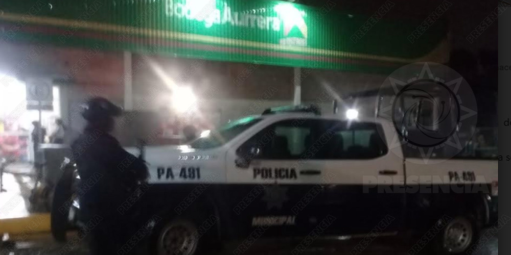 Imparables asaltos en Coatza, roban Bodega Aurrera