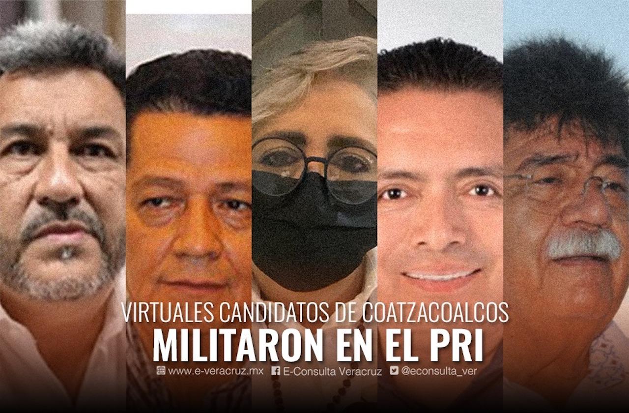 4 políticos ligados al PRI y uno de Morena buscan alcaldía de Coatza
