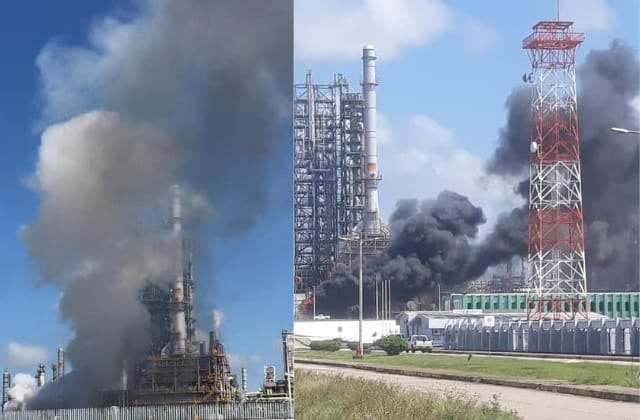 Se registra incendio en complejo Cangrejera, al sur de Veracruz