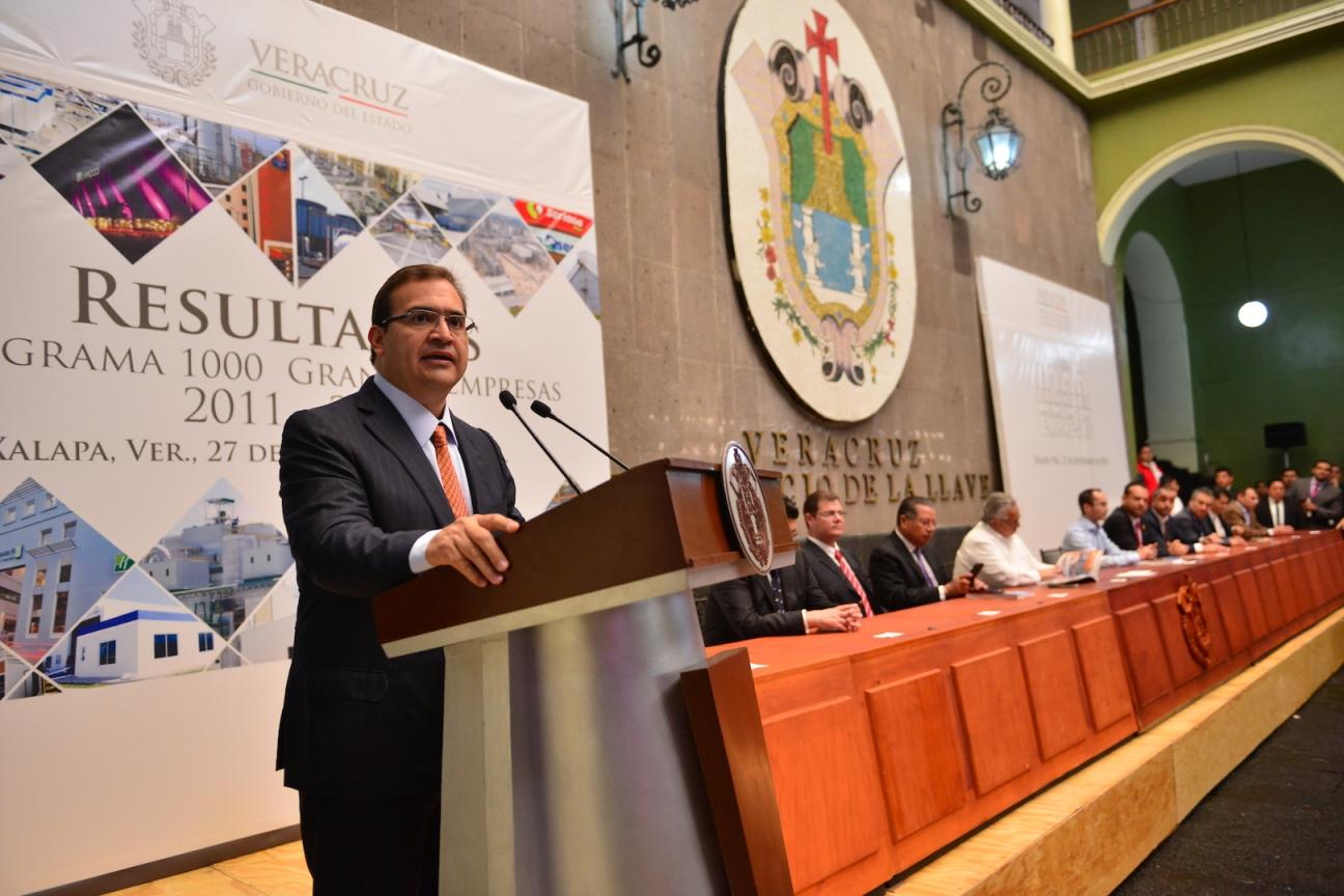 Con el programa Mil Grandes Empresas, más de 175 mil mdp en resultados: Javier Duarte