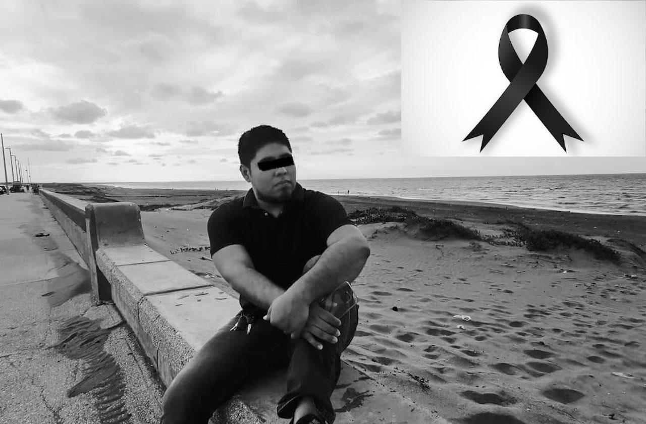 UV de luto por muerte de joven enfermero en Coatzacoalcos