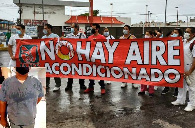 'Un horno' el IMSS de Veracruz; personal de salud exige 'climas'
