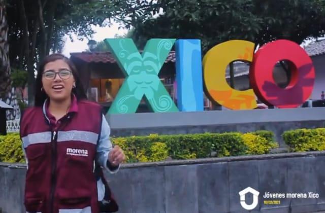 Jóvenes de Morena hacen campaña con vacunas en Xico