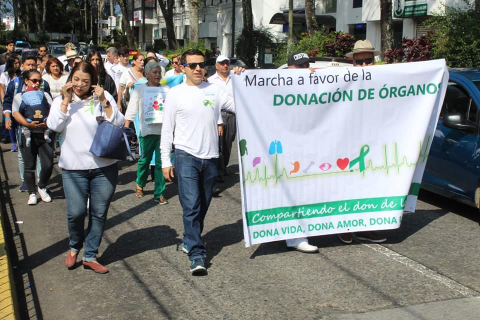 Con marcha promueven la Donación de Órganos, en Xalapa