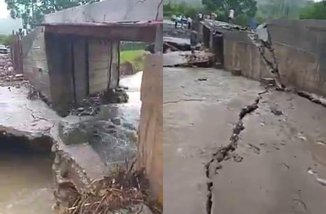 Tres comunidades rurales incomunicadas por caída de puente en Misantla