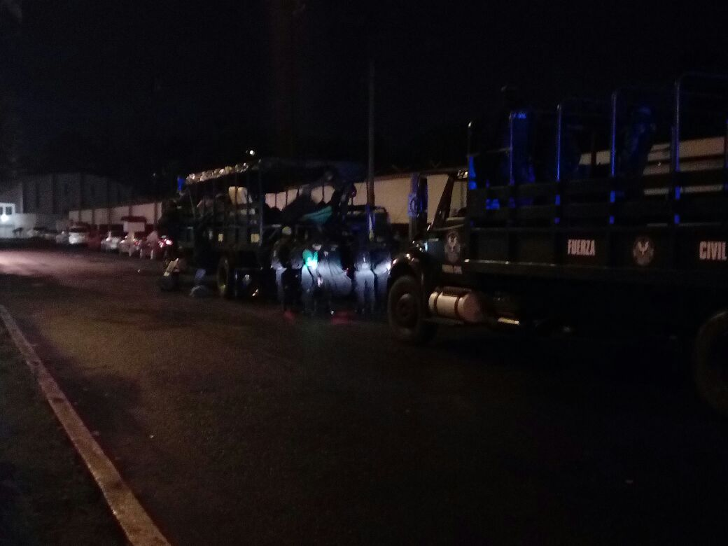 Protesta magisterial en Xalapa genera movilización policiaca