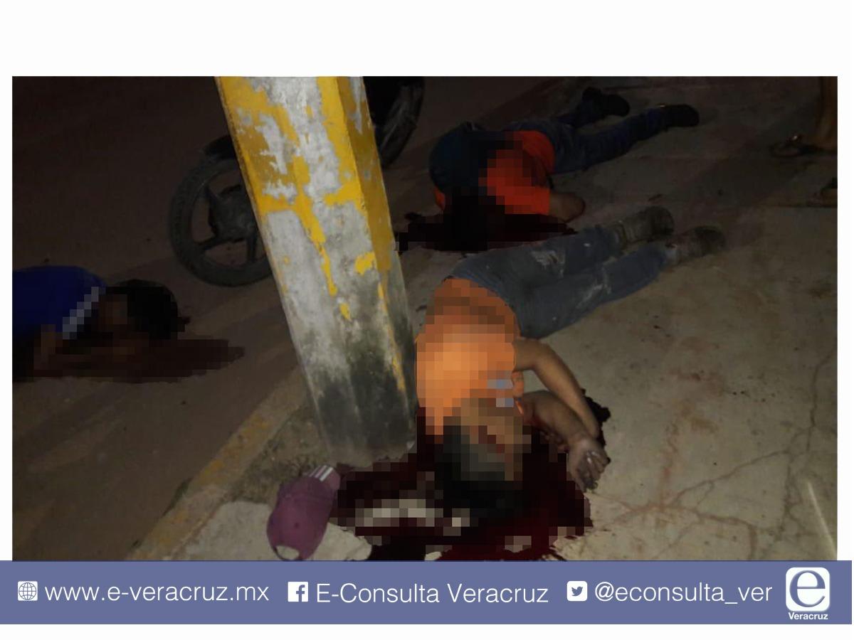 Ataque armado deja cinco personas muertas en Minatitlán