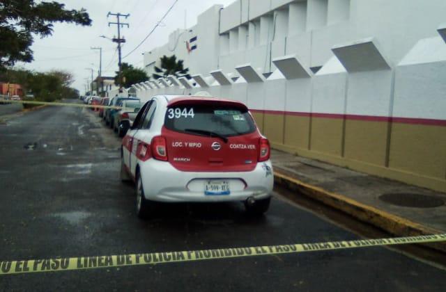 En asalto, balean a taxista de Coatzacoalcos