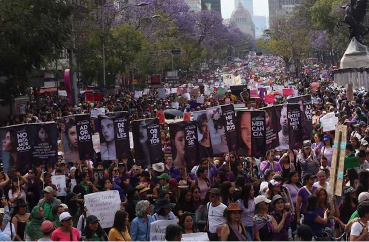 Rebasan las 80 mil participantes en marcha del #8M