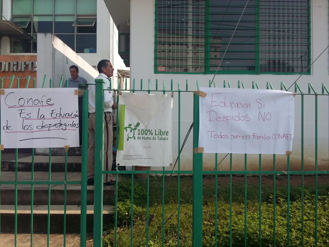 Delegación de Conafe en Veracruz se suma al paro nacional