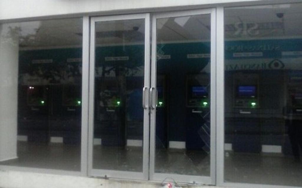 Intentan robar cajeros automáticos en Coatzacoalcos