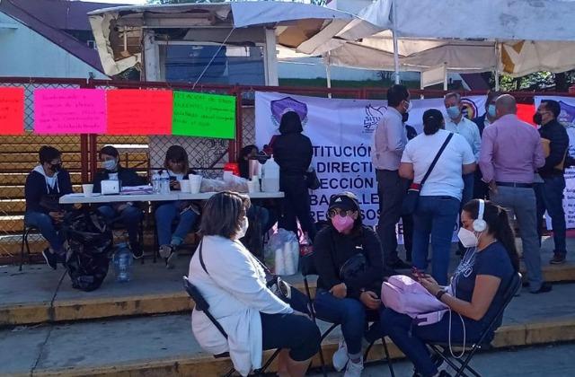 A pesar de represión, continúan movilizaciones magisteriales en Xalapa