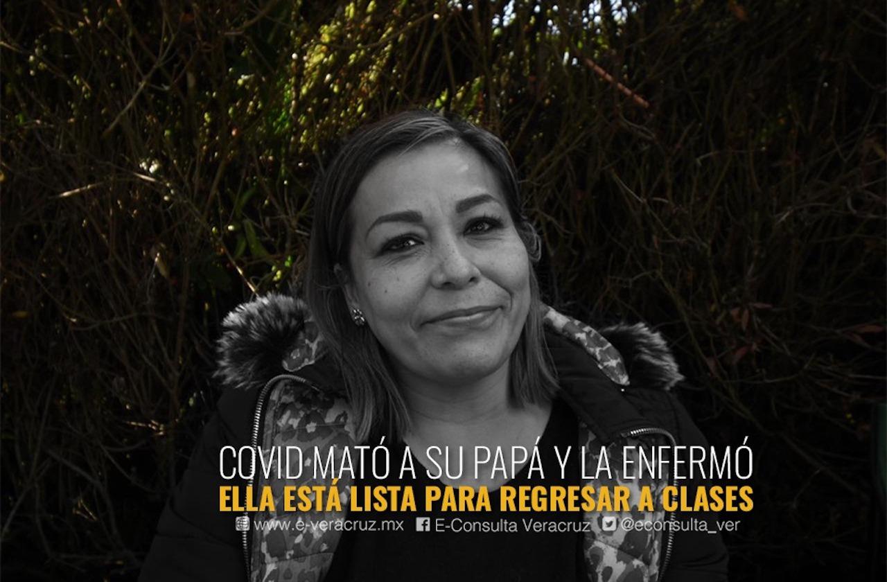 A Xóchitl la covid no le quitó su vocación de maestra; hoy se vacunó en Xalapa