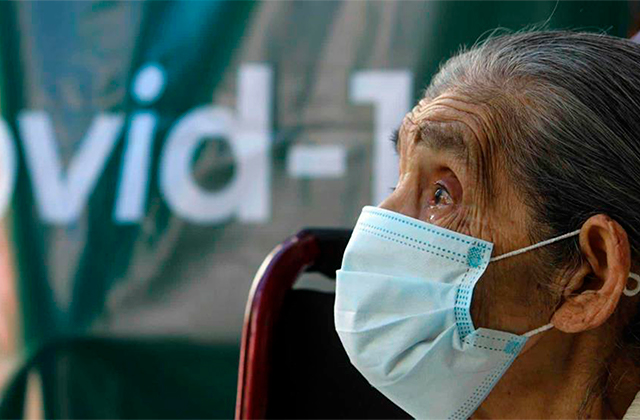 María tiene 120 años y ya fue vacunada en Veracruz
