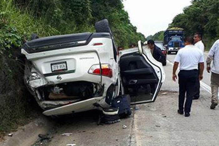 Sufre accidente el diputado federal de Morena, Cuitláhuac García