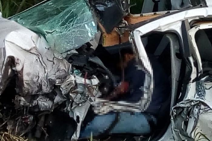 Un muerto por accidente carretero en Nautla, hay 4 heridos