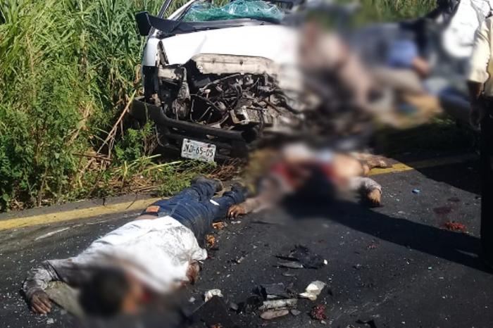 Son 8 los fallecidos y 9 lesionados en la Coatza-Mina