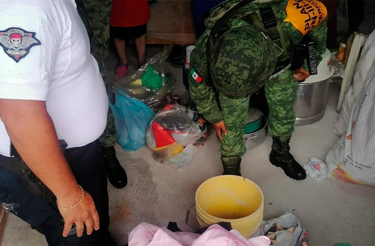 Activan operativo antiexplosivos en la colonia Obrero Campesina
