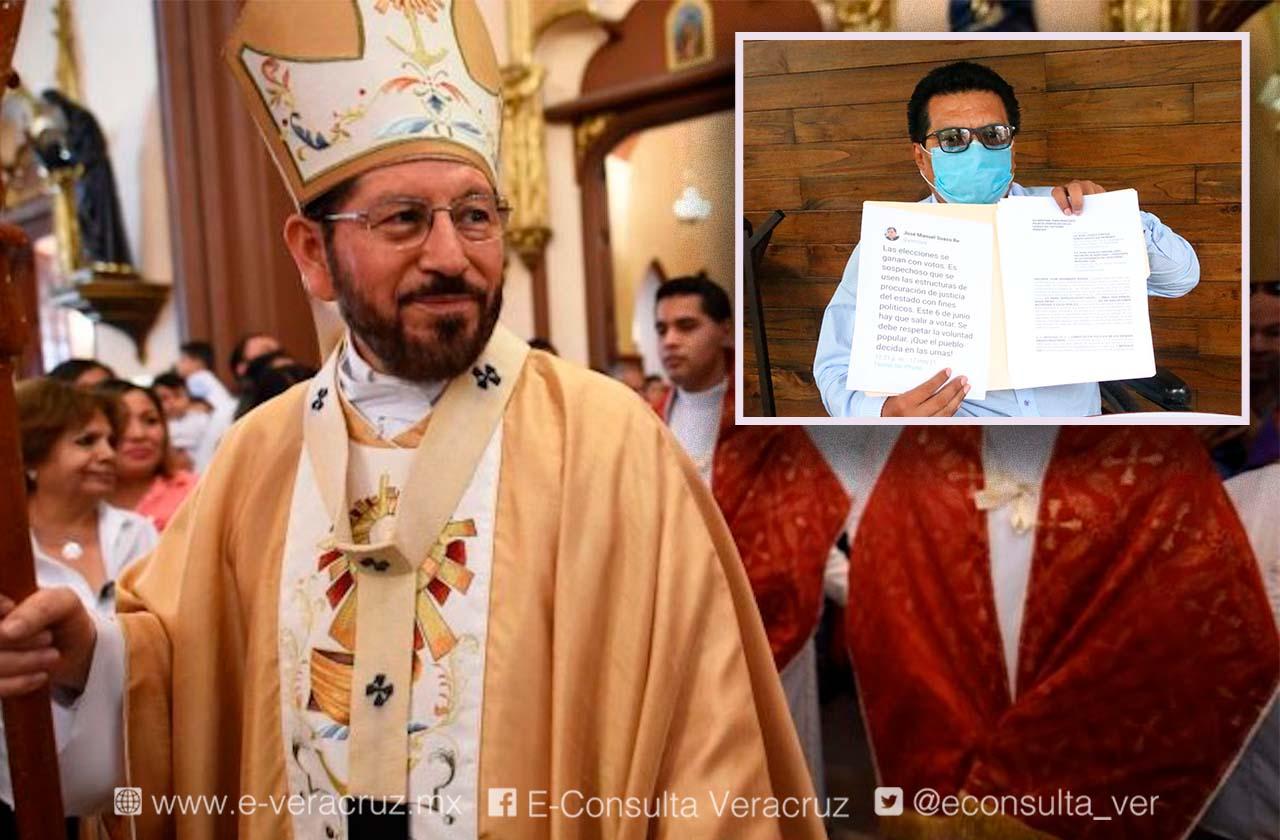 Acusan a arzobispo de Xalapa de pedir voto para su sobrina